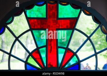 Russland, Oblast Jaroslawl, Goldener Ring, Uglitsch Uglitsch, Kreml, Kirche St. Dmitry auf dem Blut Stockbild