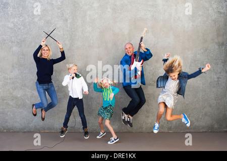Familie abrocken Stockbild