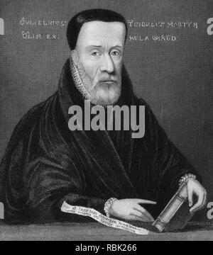 WILLIAM TYNDALE c 1494-1536) Englische protestantische Führer, der die 4 Bibel ins Englische übersetzt. Stockbild
