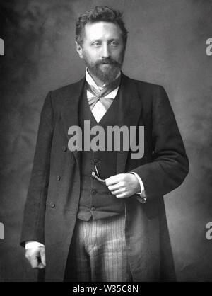 WILLIAM AYRTON (1847-1908), englischer Physiker und Elektroingenieur Stockbild