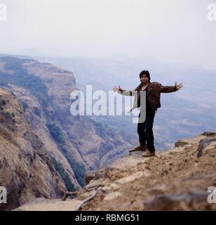 Shah Rukh Khan auf Rocky Mountains, Indien, Asien Stockbild