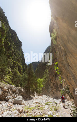 Kreta - Griechenland - Wandern durch die Samaria-Gorge, Europa Stockbild