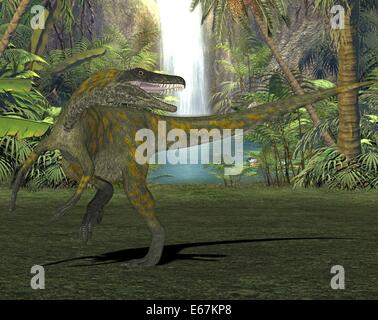 Dinosaurier Herrerasaurus / Dinosaurier Herrerasaurus Stockbild