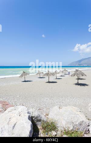 Kreta - Griechenland - Strand von Kokkinos, Europa Stockbild