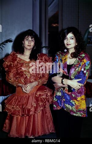 Portrait von sangeeta Bijlani und Sonu Walia, Indien, Asien Stockbild