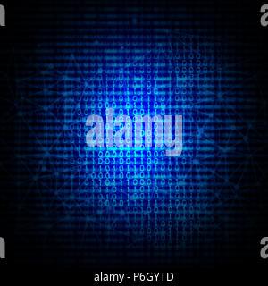 Zusammenfassung Hintergrund mit binären Code Design Stockbild