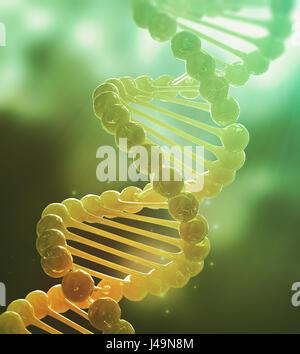 DNA-Strang Modell - Genetik 3D-Illustration Stockbild
