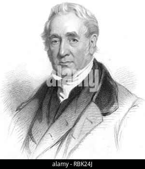 GEORGE STEPHENSON (1781-1848), englischer Ingenieur und Pionier Stockbild