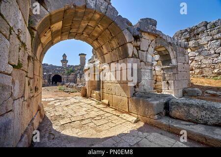 Ruine der Römischen Amphitheater, Xanthos, Türkei Stockbild