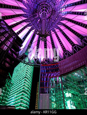 Sony Center, Potsdamer Platz, Berlin, Deutschland Stockbild