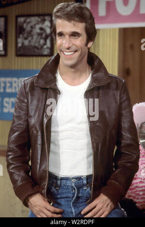 HAPPY DAYS 1970 Paramount TV-Serie mit Henry Winkler als Fonzie Stockbild