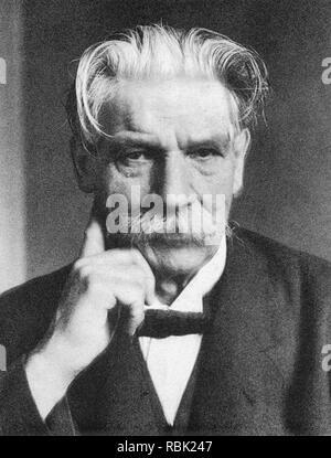 ALBERT SCHWEITZER (1875-1965) Elsässische Theologe, Arzt und Philosoph Stockbild