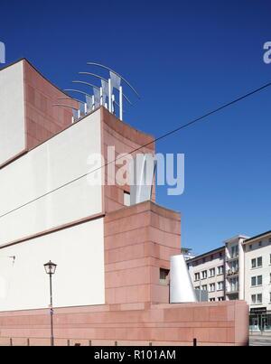 Museum für Moderne Kunst, Postmoderne, Frankfurt am Main, Hessen, Deutschland, Europa I Museum für Moderne Kunst, Postmoderne, Frankfurt am Main, Hessen, D Stockbild