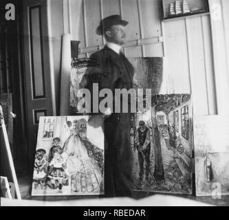 EDVARD MUNCH (1863-1944), norwegischer Maler Stockbild