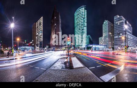 Das Bankenviertel von Berlin, Deutschland als Potsdamer Platz bezeichnet. Stockbild