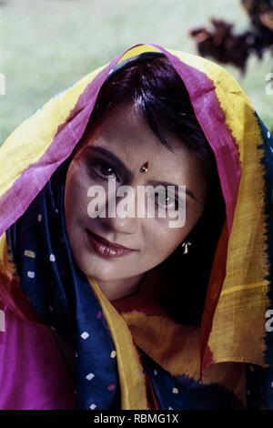 Portrait von Ranjeeta Kaur, Indien, Asien Stockbild