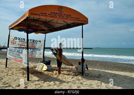 Surfer Lifestyle, Fortaleza, Brasilien Stockbild