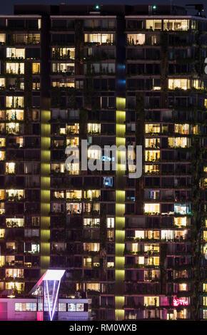 Sydney Architektur bei Nacht. Stockbild