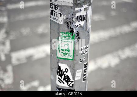 Laternenpfahl Aufkleber NewYork Stockbild