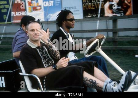 THE PRODIGY Deutsch rock Gruppe mit Keith Flint in Leeds im Jahr 1997 Stockbild