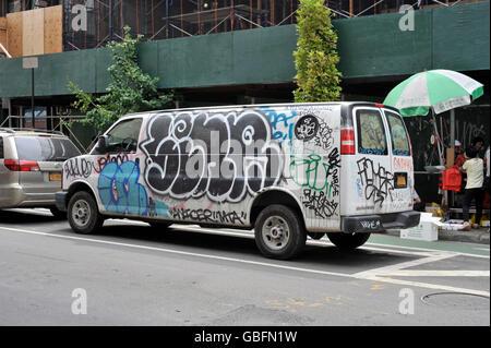 Graffiti van New york Stockbild