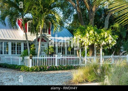 Historische Weihnachten Cottage (b. 1914), Naples, Florida, USA Stockbild