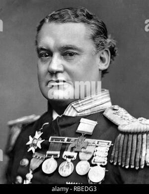 WILLIAM HEWETT VC (1834-1888) ältere englische Royal Navy Officer Stockbild