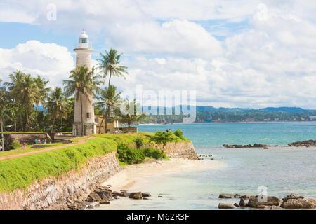 Galle, Sri Lanka, Asien - Besuch der alte Leuchtturm von Galle Stockbild