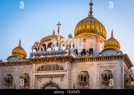 Sri Bangla Sahib Gurdwara (Sikh Tempel), New Delhi, Indien, Asien Stockbild