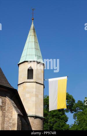 Kirche Servatiikirche, Münster in Westfalen, Nordrhein-Westfalen, Deutschland Ich Servatiikirche, Münster in Westfalen, Baden-Württemberg, sind Stockbild