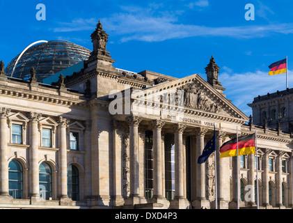 Reichstag, Berlin, Deutschland, Europa Stockbild