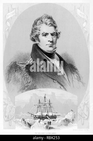 JAMES CLARK ROSS (1800-1862) die britische Royal Navy Explorer mit HMS Enterprise Stockbild