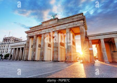Berlin, Brandenburger Tor, Deutschland Stockbild
