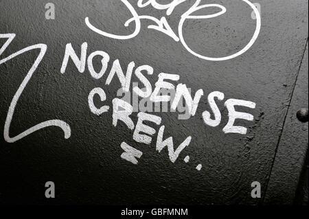 Unsinn Besatzung Graffiti NewYork Stockbild
