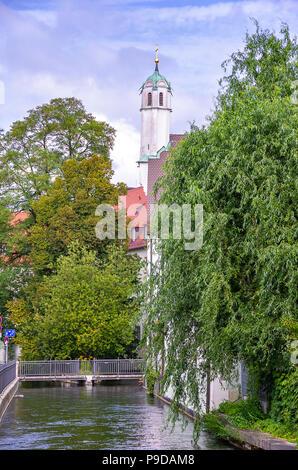 Augsburg, Bayern, Deutschland - Klosterkirche der Dominikanischen Kloster St. Ursula. Stockbild