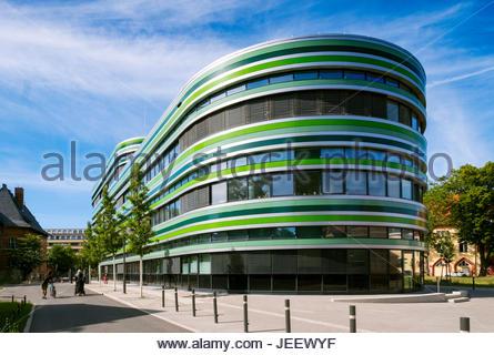 Außenseite des modernen Bürogebäude in Mitte, Berlin, Deutschland Stockbild