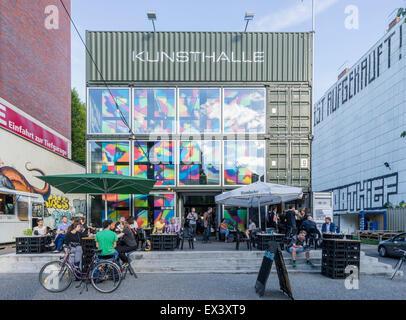 Platoon Kunstalle Kunstraum in Containern in Prenzlauer Berg Berlin Deutschland Stockbild