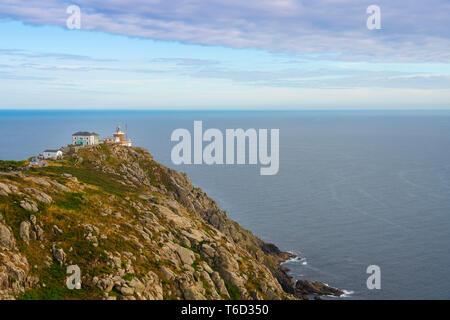 Spanien, Galicien, Finisterre Finisterre Leuchtturm Stockbild