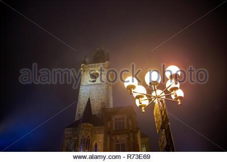 Astronomische Uhr und Turm, Altstädter Ring, Prag, Tschechische Republik Stockbild