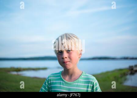 Porträt eines jungen See Stockbild