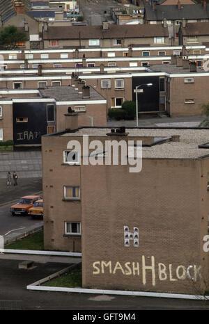 Die Mühen Derry LondonDerry 1981 Nordirland 1980 s UK HOMER SYKES Stockbild