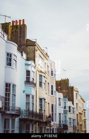 Britische Architektur, Brighton, England Stockbild