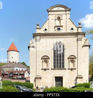 Kirche Observantenkirche, und Alten Turm Buddenturm, Münster in Westfalen, Nordrhein-Westfalen, Deutschland Ich Observantenkirche, Buddenturm, Münster Stockbild