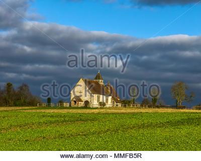 St. Hubert's Kirche Idsworth Hampshire Stockbild