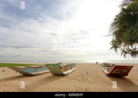 Asien - Sri Lanka - induruwa - wo der Sonnenuntergang ist ruhig und friedlich Stockbild