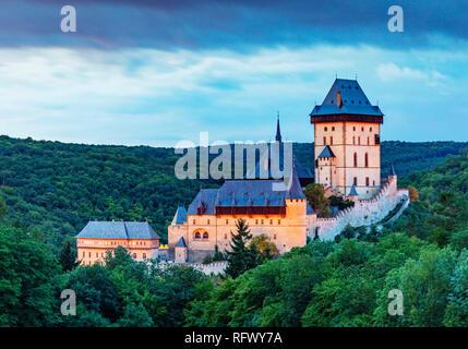 Burg Karlstein, Tschechische Republik, Europa Stockbild