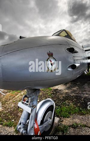 Die Gloster Meteor war der erste britische Kampfjets und der Alliierten nur jet Kampfhandlungen während des Zweiten Weltkrieges zu erreichen. Die M Stockbild
