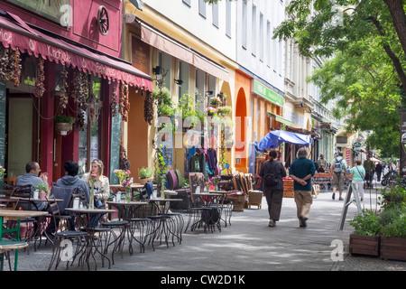 Bergmannstraße, Kreuzberg, Berlin, Deutschland Stockbild