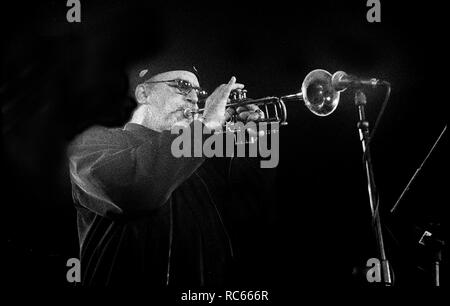 Randy Brecker, Brecon Jazz Festival, Brecon, Wales, August 2001., Brecon Jazz Festival, Brecon, Wales, August 2001. Stockbild