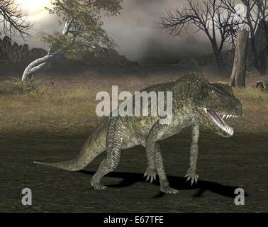 Dinosaurier Postosuchus / Dinosaurier Postosuchus Stockbild